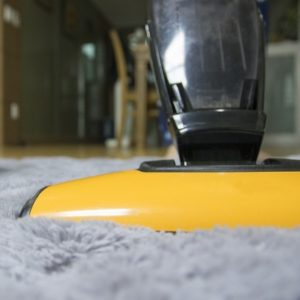 Vacuum Cleaner Running Over Rug